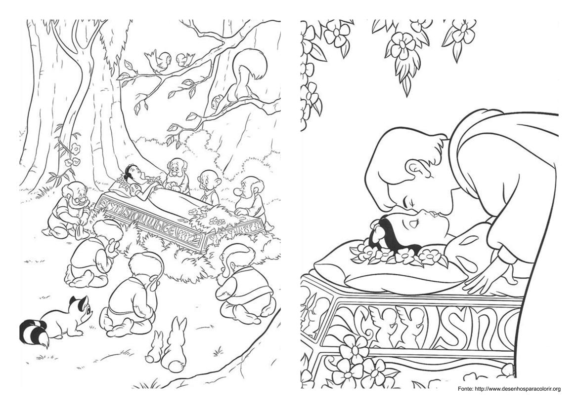 Desenho Da Princesa Branca De Neve Para Colorir 7 Desenhos